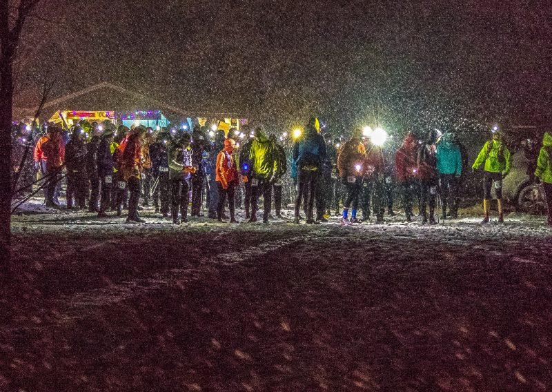 2018 50MI Start In Snow - Photo Credit Paul Nye