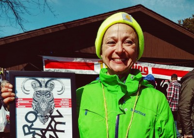 50 Mile 1st Place Master Jennifer St Amand - Photo Credit John Storkamp