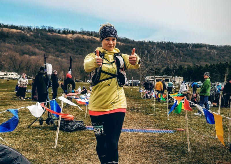 Allison Carolan Finishes the 50 - Photo Credit John Storkamp