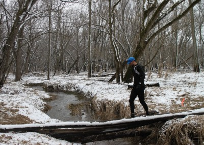 Edward Sandor Crossing the Bridge on THE SNOW YEAR - Photo Credit Eric Forseth