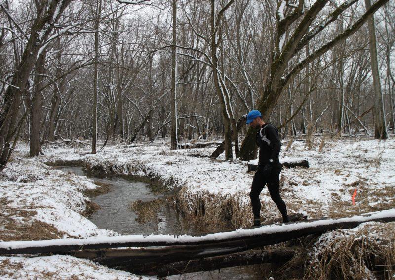 Edward Sandor Crossing the Bridge on THE SNOW YEAR - Photo Credit Eric Forseth