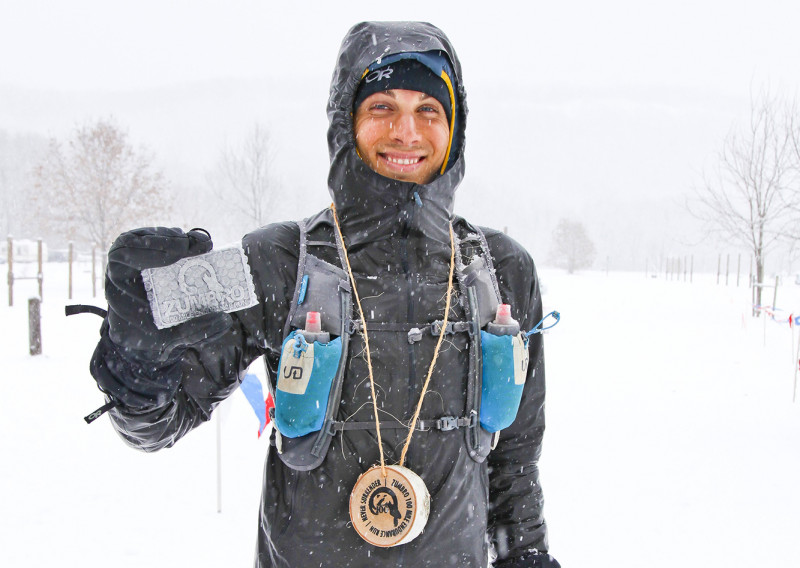 Even Sermud Elated with His Finish - Photo Credit Eric Hadtrath