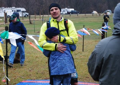 Matthew Wilson Finishes the 50 Mile gets the Greatest Gift - Photo Credit Kelcey Knott