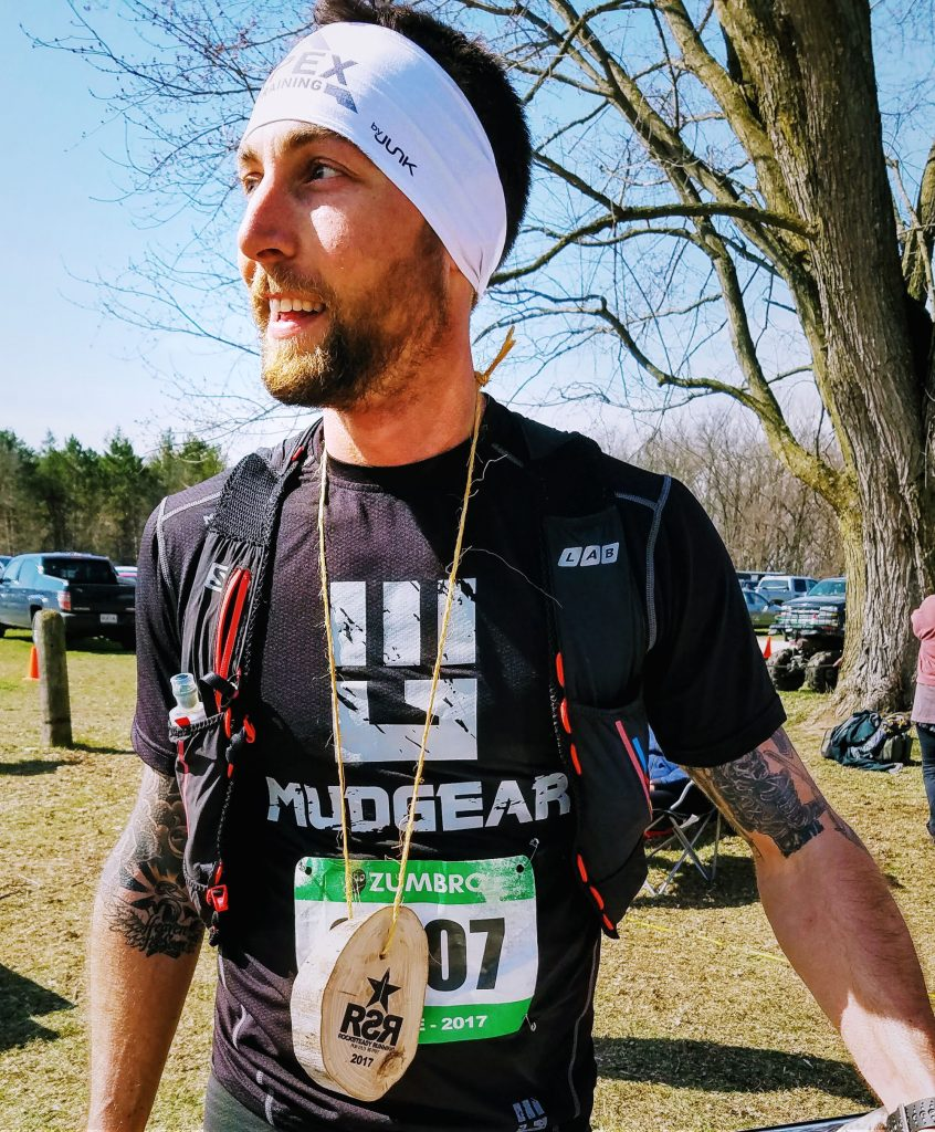 1e3195faa472 Mike Ferguson looking happy and content after winning and breaking his own  course recrod at the 2017 Zumbro 17 Mile Trail Race – Photo Credit John  Storkamp
