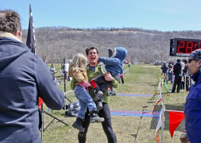 Nicholas Keller Finishing 50 Miles - Photo Credit Eric Hadtrath