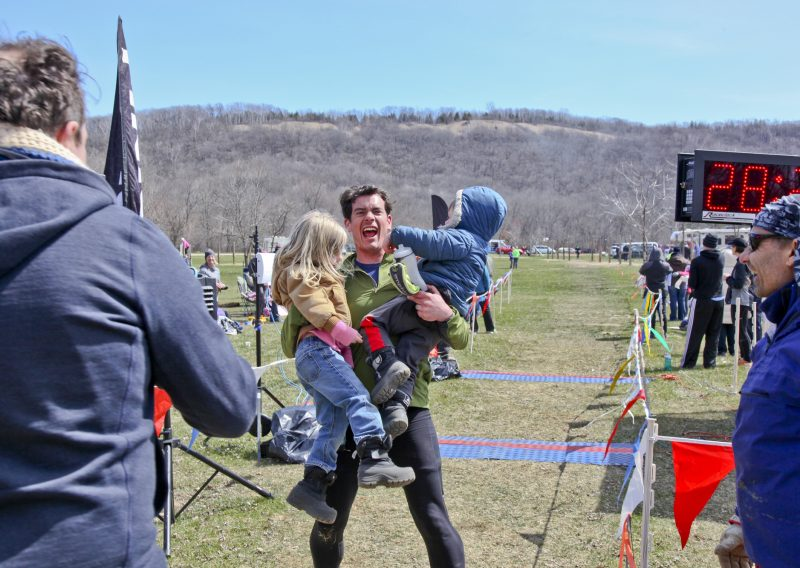 Nicholas Keller Finishing 50 Miles - Photo Credit Eric Hadtrath