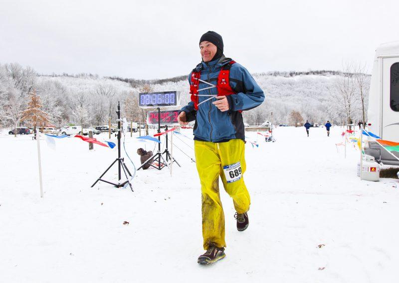 Scott Raasbach Getting His 5th 50 Mile Finish in 2018 - Photo Credit Eric Hadtrath