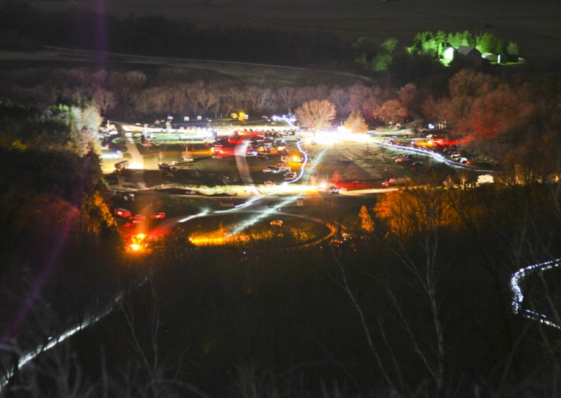 Start and Finsh Area at Night - Photo Credit Eric Hadtrath