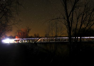 Zumbro Bridge at Night - Photo Credit Eric Hadtrath