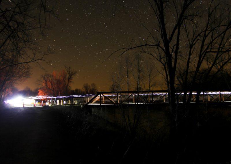 Zumbro Bridge at Night - Photo Credit Eric Hadtrath