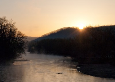 Zumbro River Sunrise - Photo Credit Zach Pierce