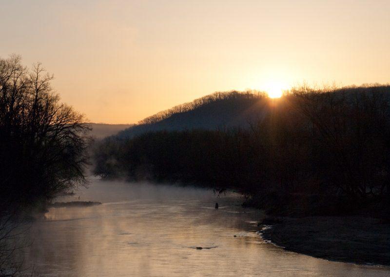 Zumbro River Sunrise - Photo Credit Zach Pierce